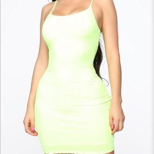 Fashion nova lime green dress